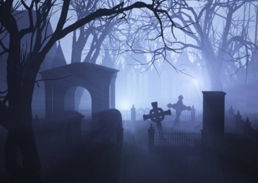 cemetery wallpaper night - photo #30